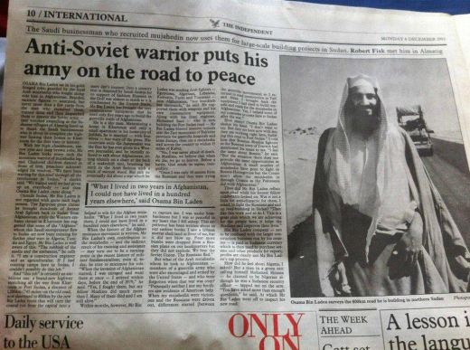 When THE WORLD CONSIDERED BEN LADEN A HERO … 1993